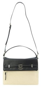 Kate Spade Maria Houston Street Straw Leather Straw Crossbody Satchel Shoulder Bag
