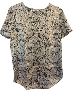 Equipment Reptile Blouse Silk Button Down Shirt Snake
