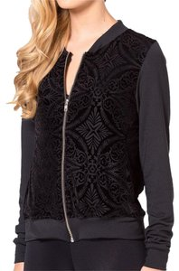 Black Milk Clothing Velvet Burnt Burnt Velvet Black Jacket