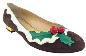 Charlotte Olympia Brown Flats