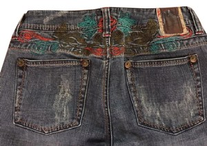 Marlow Vintage Embroidered Boho Hippee Boot Cut Jeans