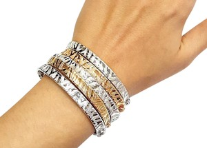 Roberto Coin 18 Karat Rose Gold Bracelet With Engraved Zebra pattern
