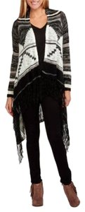 No Boundaries Fringe Hem Aztec Cardigan