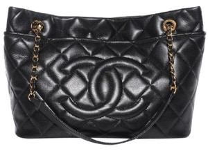 Chanel Timeless Grand Shopping Gst Soft Tote in Black