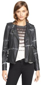 Rebecca Taylor Tory Burch Isabel Marant Blue Leather Jacket