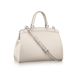 Louis Vuitton Epi Leather Silver Crossbody Strap Satchel in Ivory
