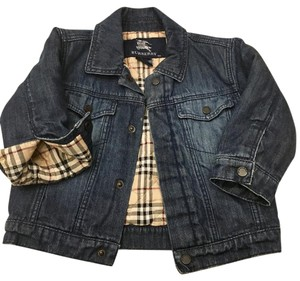 Burberry (infant size) Lined Check Pattern Denim Jacket