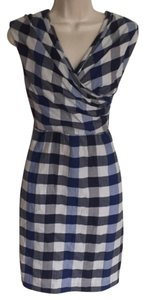 3.1 Phillip Lim short dress Blue Checkered Print on Tradesy