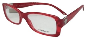 Versace New VERSACE Rx-able Eyeglasses 3137 882 52-16 Red Stripped Frames
