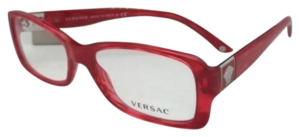 Versace New Rx-able 3137 882 52-16 Red Stripped Frames Sunglasses ...