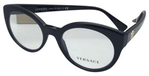Versace New VERSACE Rx-able Eyeglasses 3217 GB1 51-19 140 Black Frames