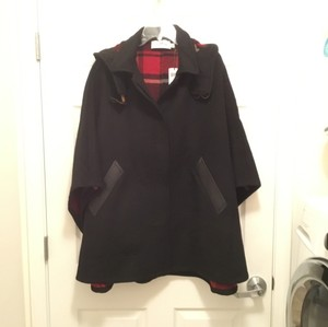 Coach Wool Leather Poncho Cape