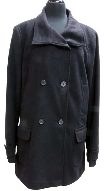 Item - Black Maritime Wool & Cashmere Trench Jacket Coat Size 14 (L)