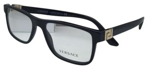 Versace New VERSACE Rx-able Eyeglasses VE 3211 GB1 53-17 145 Black Frame