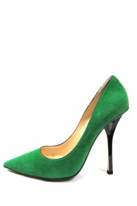 Jimmy Choo Suede Suede Suede Stiletto Green Pumps - item med img