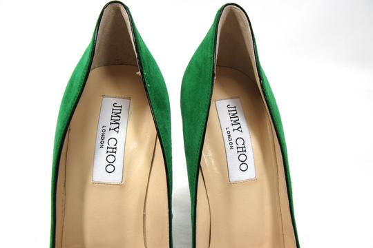 Jimmy Choo Suede Suede Suede Stiletto Green Pumps