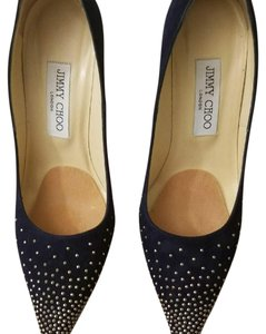 Jimmy Choo Navy / Silver studs Pumps