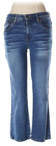 Mossimo Supply Co. Junior Cropped Capri Capri/Cropped Denim-Medium Wash