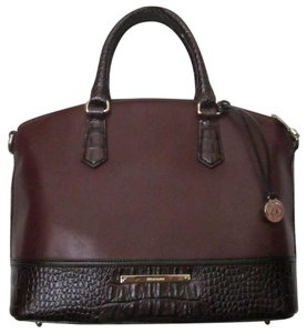 Brahmin New With Tag Satchel in Malbec Autumn Tuscan