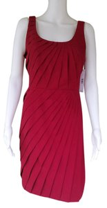 Gianni Bini Silk Pleated Sheath Sleeveless Dress
