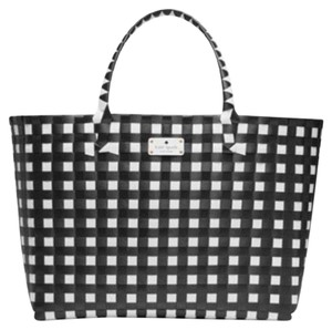 Kate Spade Carry On Travel Designer Luxury Tote in Black and White