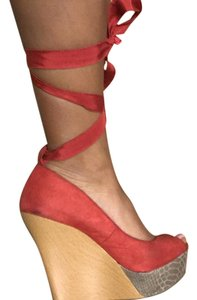 Jennifer Lopez Coral Wedges