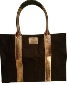 Victoria's Secret Vs Overnight Tote New Black and Rose Gold Beach Bag