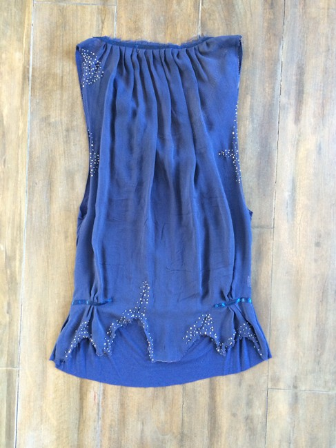Religion Beaded Chain Top Blue