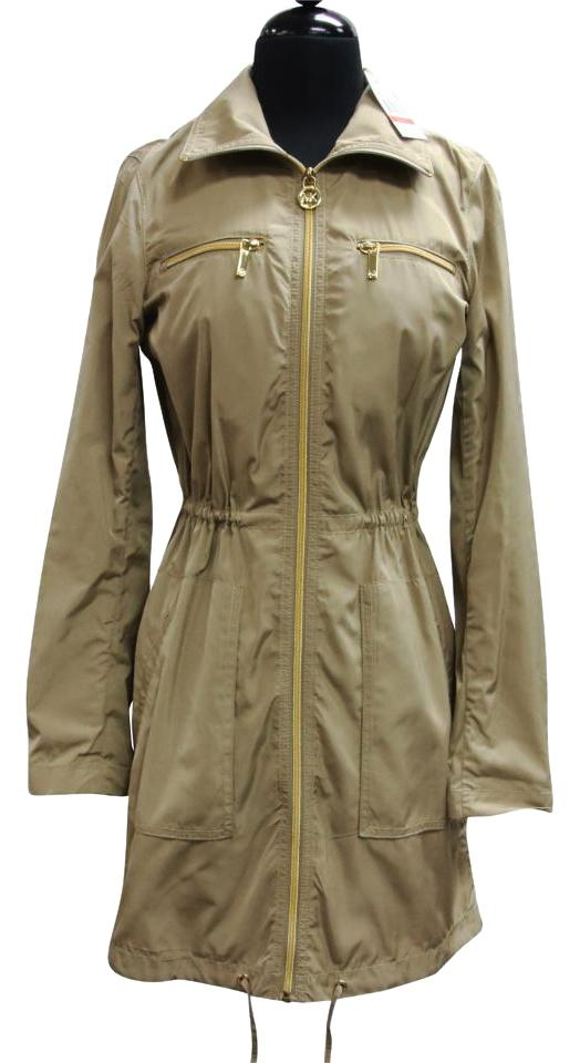 big selection of 2019 prevalent buying now Michael Kors Khaki Gold XS Rain with Hardware Coat Size 2 (XS) 89% off  retail