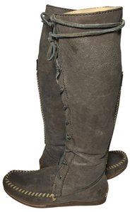 Frye 75060 Alex Lace Leather Size 6 Gray Boots