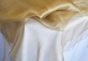 Antique Gold Table Toppers and Chair Sashes Tablecloth