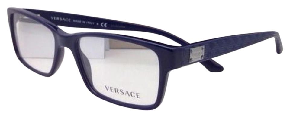 9909c2047587 Versace New 3198 5107 55-17 Navy Blue Rectangular Frame Sunglasses ...