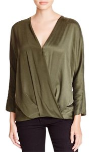 Ramy Brook Silk Top Olive