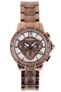 Judith Ripka Chocolate-Tone Stainless Steel Chronograph Textured Watch