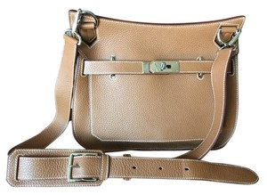 Hermès Clemence Jypsiere Leather Cross Body Bag