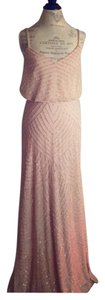 Adrianna Papell Adriana Taupe Sequined Dress