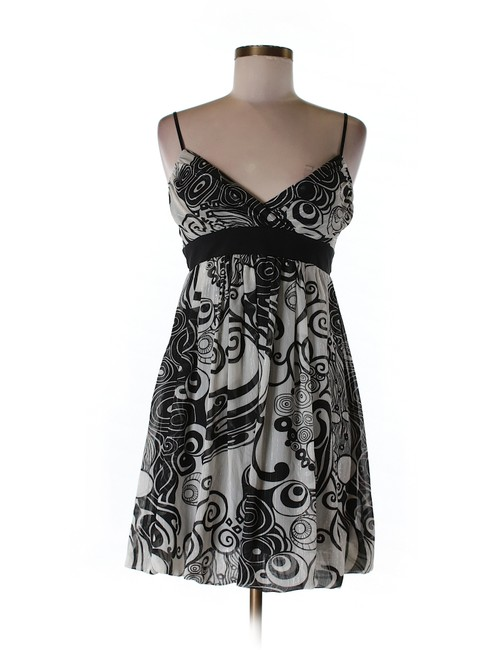 Ruby Rox Black, White And Silver Dress. With Silver. Dress well-wreapped