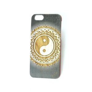 Case Yard NEW Cherry Wood iPhone Case with Vintage Ying Yang Design, iPhone 7+