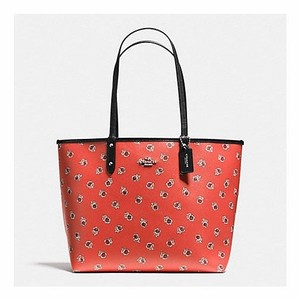 Coach Tote in Watermelon/Black