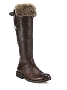 Frye Shearling Over The Knee Black Boots