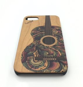 Case Yard NEW Cherry Wood iPhone Case with Colored Guitar, iPhone 6s