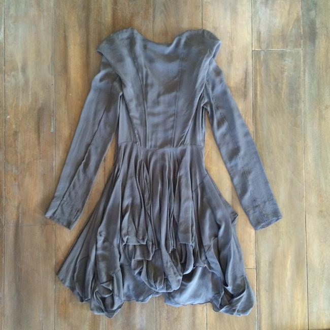 AllSaints short dress Grey on Tradesy