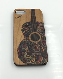 Case Yard NEW Cherry Wood iPhone Case with Colored Guitar, iPhone 7+