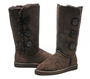 UGG Australia Button Brown Boots