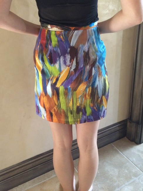 Other Silk Floral Skirt Multi-Color