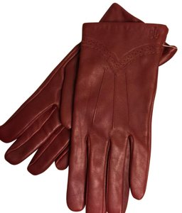 Ralph Lauren NWT-XL-RALPH LAUREN SOFT BURGUNDY LEATHER GLOVES