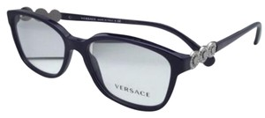 Versace New VERSACE Eyeglasses VE 3181-B 5064 53-15 Eggplant Purple w/Crystals