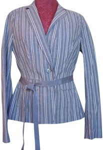 Banana Republic Gray & White Stripe Blazer