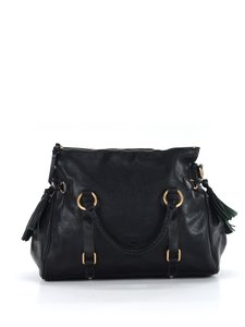 Dooney & Bourke And Leather Designer Satchel in Black