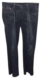 Union Distressed Boot Cut Jeans-Dark Rinse